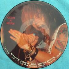 Guns N Roses Rare UK Limited edition Interview Picture Disc EX 80's Baktabak
