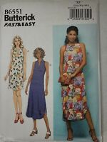 Sewing Pattern Womens Misses Robe and Gown Xs S M L XL Butterick 6300