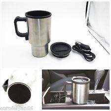 12 V Argent Autos Véhicule Allume-cigare d'eau en acier inoxydable chauffé tasse