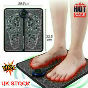 USB EMS Foot Massager Mat Pad Leg Reshaping Blood Muscle Circulation Pain Relief