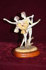 "Vivacious Spirit Table Ballerina Dancers Sculpture By Simonelli  7"" Tall- China"