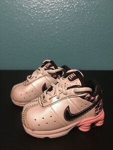 Nike Shox White Pink Blk Baby Infant Toddler Girls shoes Sz Toddler 2c Sneakers