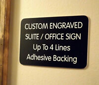 "RESTROOM Engraved Sign Door Home Business Plaque BLACK 2/"" x 5 1//2/"" Rectangle NEW"