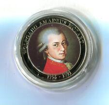 Farb Medaille 1000 Jahre Österreich Wolfgang Amadeus Mozart mit Zertifikat M_840