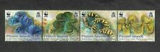 Pitcairn Islands- Fluted Giant  Clam - Marine Life  WWF mnh