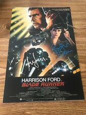 Harrison Ford & Rutger Hauer Autographed 12x18 Photo Blade Runner