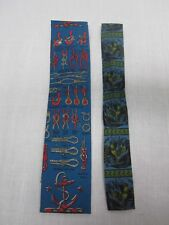 """2 VINTAGE ROOSTER SQUARE END MENS TIES NAUTICAL ROPE KNOTS & ROOSTERS 3"""" & 1.75"""""""