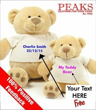 PREMIUM Soft, Plush, Personalised Teddy Bear FREE Embroidered lettering