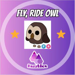 ⭐CHEAP + FAST⭐ Adopt*Me FR Fly Ride Owl   Virtual Item