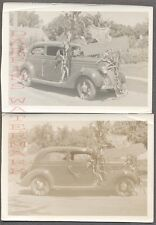 Vintage Car Photos 1936 Ford w/ Wings on Corn 715028