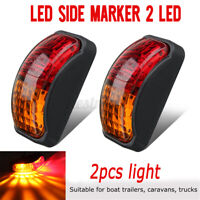2x 2 LED Clearance Lights Side Marker Lamp Car Trailer Truck Caravan 12V-24V //