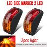 2x 2 LED Clearance Lights Side Marker Lamp Car Trailer Truck Caravan 12V-24V //