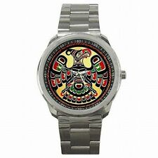 Thunderbird Native American Indian Algonquian Stainless Steel Watch
