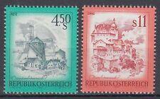 Österreich Austria 1976 ** Mi.1519/20 Windmühle Mill Landschaften Landscapes