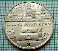 HOLLAND NETHERLANDS 1995 AMSTERDAM SAIL 2 ECU, SAILING SHIPS, UNC