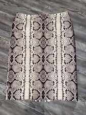 New listing J. Crew Number/No. 2 Pencil Skirt Snake Skin Print Reptile Wool Blend Size 4
