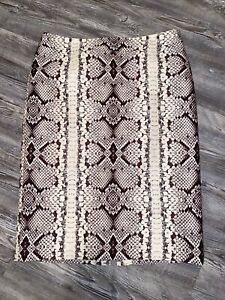 J. Crew Number/No. 2 Pencil Skirt Snake Skin Print Reptile Wool Blend Size 4