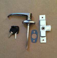 Chrome Lever Handle & Budget Lock / Latch for Catering Trailers Horsebox Coach