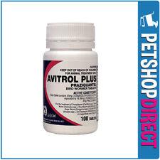 Avitrol Plus Bird Wormer Tablets 100 Pack