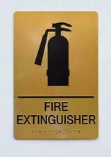 New listing Fire Extinguisher Sign - Gold(Aluminium, Gold/Black,Size 6X9).(ref1820)