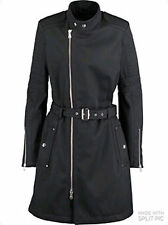 BLACK Gold Nero DIESEL korip di lana Trench Mac Taglia UK 8 RRP £ 640