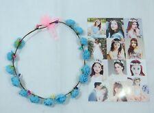 Women's delicate flower wreath festival Headband crown Blue faux Roses Prom