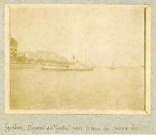 """Suisse, Genève, Départ du """"Genève"""" pour le tour du grand lac, ca.1900, vintage c"""