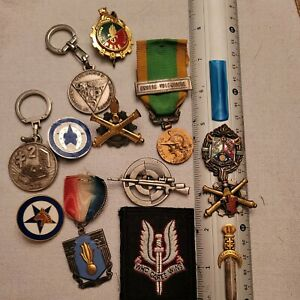 FRENCH FOREIGN LEGION BADGES + MEDALS+ PATCHES +KEY CHAINS-DEALER SALE GROUP