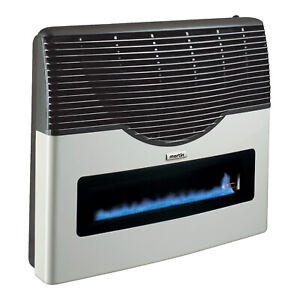 Martin Direct Vent Glass Propane Wall Heater w/ Built In Thermostat, 20,000 BTU
