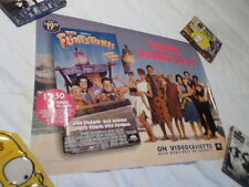 Vintage Flintstones Movie Poster John Goodman O'Donnell Video Store Promotional