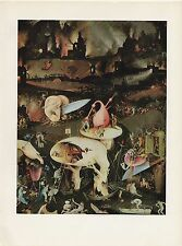 """1971 Vintage HIERONYMUS BOSCH """"GARDEN OF EARTHLY DELIGHTS"""" #6 COLOR Lithograph"""