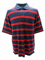 Louie James Cotton Rich Pique Polo Shirt in Red/Navy in Size Medium to XXL