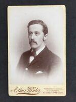 Victorian Cabinet Card Photo: Gentleman: Argue Winter: Preston