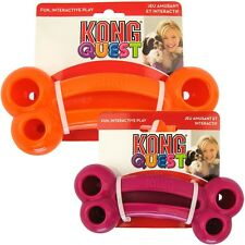 Kong Quest .... Kongs Flexible Dog Puppy Treat Dispensing Play Toy - Bone Large