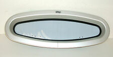 "Gebo Alum. Elliptical Portlight/Window 7 ½"" X 20 ½""  Smoked Acrylic Glass"