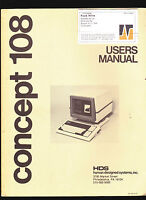 Concept 108 Users Manual- HDS Human Designed Systems Inc 1981 Computer