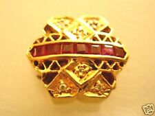 Estate*Rare*Joshua*Diamond*Ruby*14k Gold Bracelet Slide