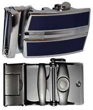 men's belt buckle ratcheting automatic self-lock track line new blue buckle only