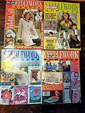 Lot of Four (4) 1970s VINTAGE MCCALL'S NEEDLEWORK & CRAFTS MAGAZINES Crochet Lot