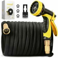 75ft Garden Hose All Expandable Water W Double Latex Core 3/4 Solid Brass Fittin