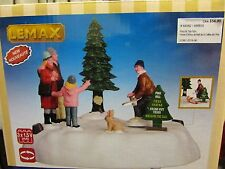 LEMAX CHRISTMAS VILLAGE ANIMATED PINE HILL TREE FARM  #64062