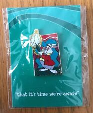 "Disneyana Small World #6 'That It's Time We're Aware"" Pin White Rabbit Alice"