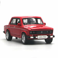 1:32 VAZ Lada 2106 Model Car Diecast Gift Toy Vehicle Pull Back w/ Sound Light