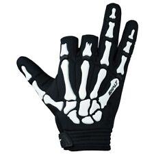 Paintball Exalt Death Grip Paintball Skeleton Gloves Black White New - Medium