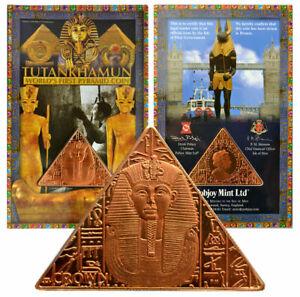 ISLE OF MAN 1 Crown 2008 Bronze Proof 'The Return of Tutankhamun - Death Mask'