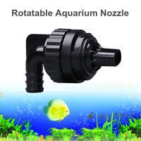 Rotatable Aquarium Fish Tank Water Outlet Nozzle Return Pipe Plumbing Fittings