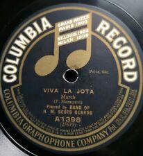 """Band H.M. Scots Guards """"Viva La Jota"""" Colubia 78rpm10"""" rare marches / Märsche"""