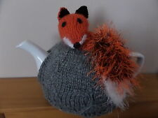 Hand Knitted Tea Cosy  - Fox with a Bushy Tail