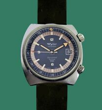 Vintage 60's WYLER Super Compressor Dynawind Diver Automatic 660 feet  Watch