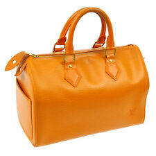 100% AUTHENTIC LOUIS VUITTON SPEEDY 25 HAND BAG PURSE ORANGE EPI LEATHER S05388